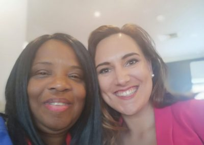 Adaobi Onyekweli with Chloe Bisson - founder of Automation Queen