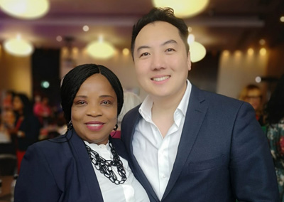 Adaobi Onyekweli with John Lee Property Investor And Founder of Wealth Dragons